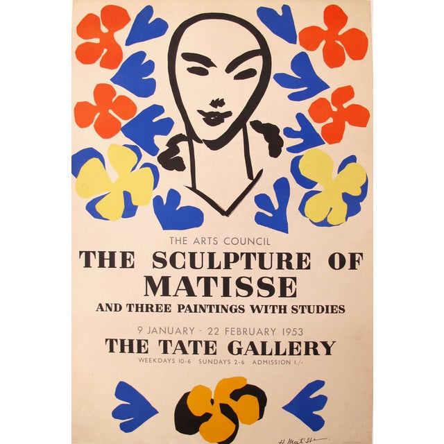 1953 Original Matisse Exhibition Poster - Image 1 of 3