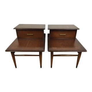 Mid-Century Two Tiered End Tables - A Pair