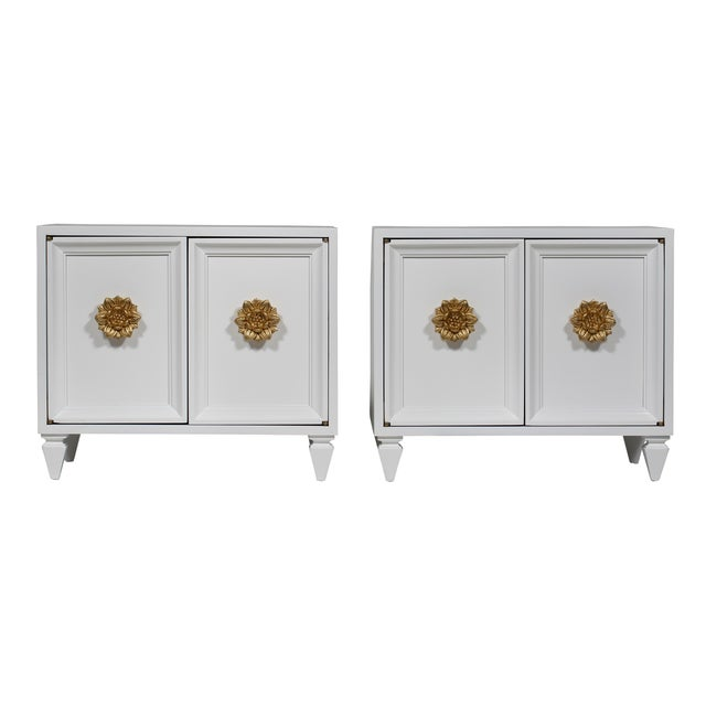Image of Hollywood Regency End Tables - Pair