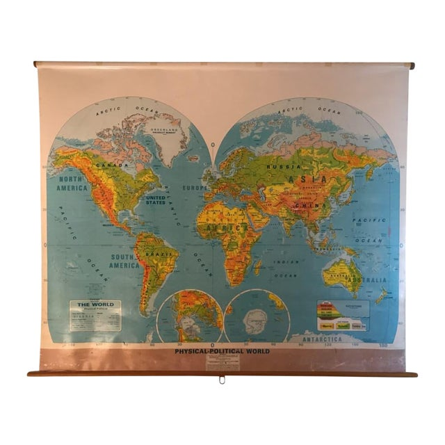 Large School World Map - Image 1 of 6