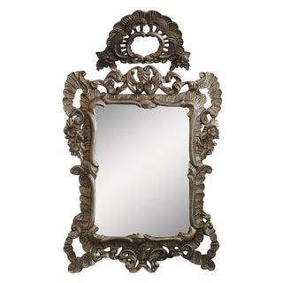 Italian Silver Gilded Mirror
