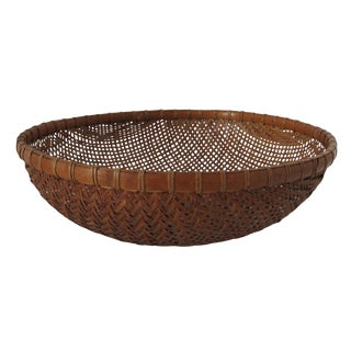 African Straw Gathering Bowl