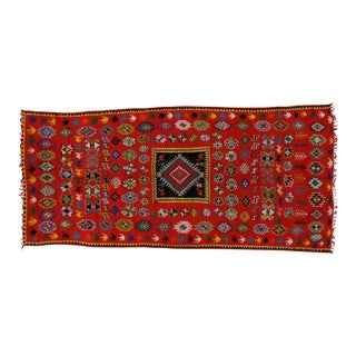 Vintage Berber Moroccan Rug with Modern Tribal Style, 05'08 X 12'04