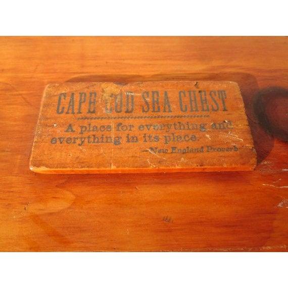 Primitive Cape Cod Captain Sea Chest Crate - Image 7 of 7