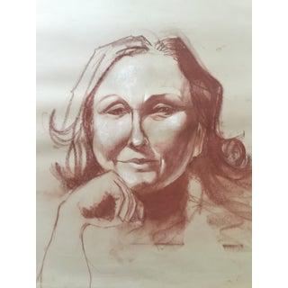 Vintage Sepia Portrait of a Woman