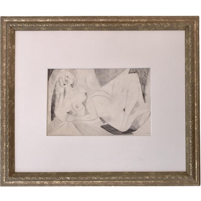 Abstract Figurative Nude Drawing Richard Ericson - Image 1 of 5