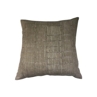 Vintage Aso Oke Metallic Thread Pillow