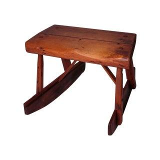 Vintage Wooden Rocking Saddle Stool