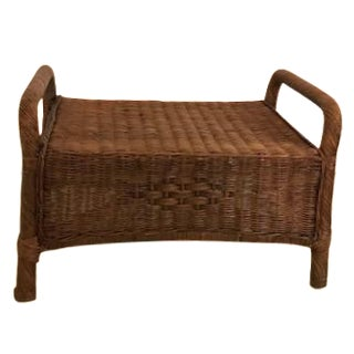 Wicker Ottoman or Coffee Table