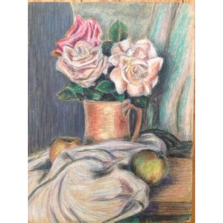 Frank J. Bette Pastel Floral Still Life