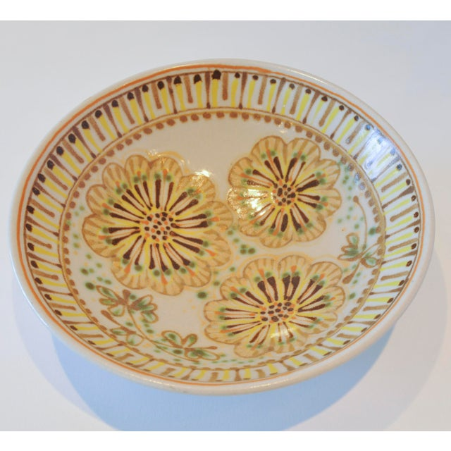 Mid-Century Janet Rothman Floral Bowl - Image 7 of 11