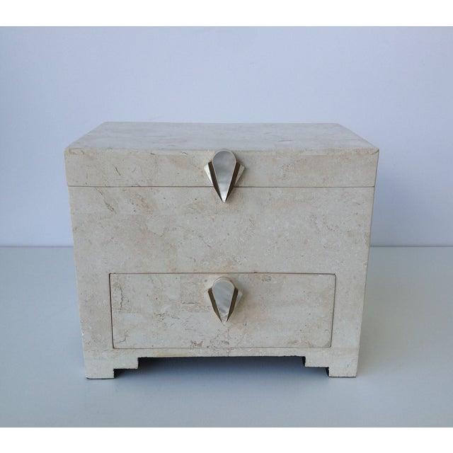 Maitland-Smith Vintage 1970s Tessellated Stone Box - Image 2 of 11