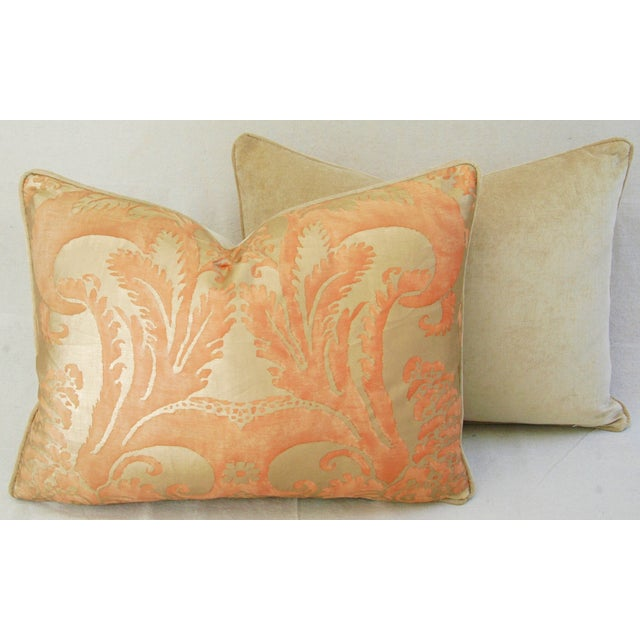 Italian Fortuny Glicine Gold Pillows - Pair - Image 10 of 11