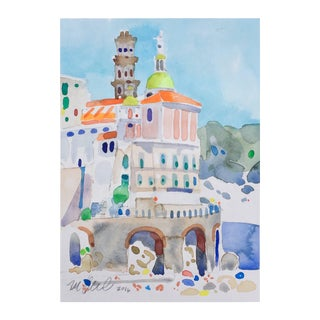 """Cinque Terra Castle"" Original Watercolor Painting"