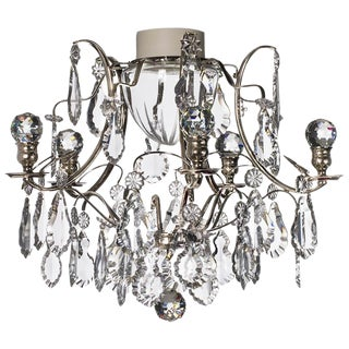 Baroque 5 Arm Nickel Ball Bathroom Chandelier