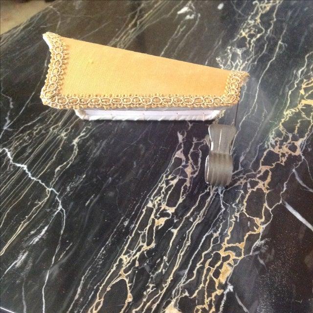 Italian Marble & Brass Lighted Vanity - Image 11 of 11