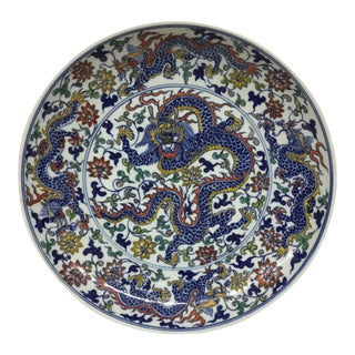 Antique Dragon Republic Era Porcelain Plate