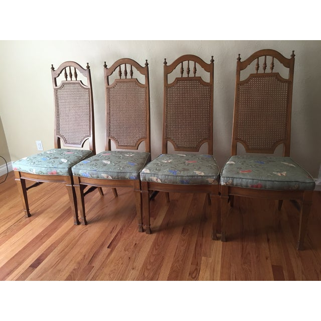 Spanish Revival Cane Back Dining Chairs - Set of 6 - Image 3 of 11