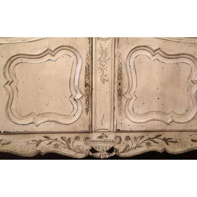 Early 20th Century French Louis XV Carved Painted Buffet - Image 6 of 9