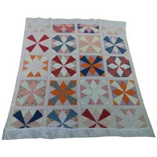 Vintage American Pinwheel Quilt