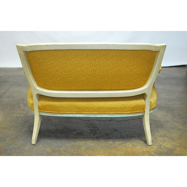 French Louis XVI Painted Canape Settee - Image 6 of 6