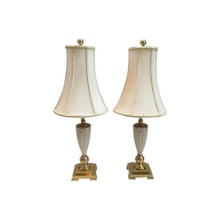 Lenox Porcelain Table Lamps - A Pair