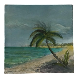 Original Palm Tree Tropical Jungalow Painting