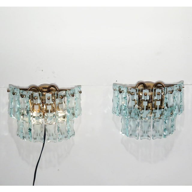 Mid-Century 3 Light Sconces - A Pair - Image 2 of 9