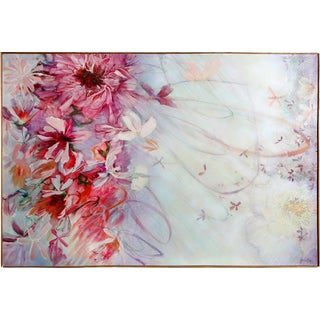 Florence Hasenflug Pink Flower Blossoms Oil Painting
