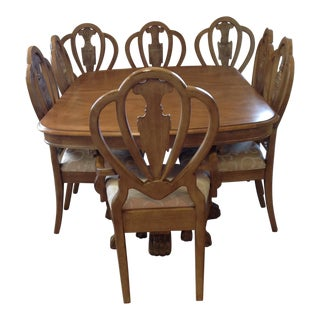 Lexington Wood Dining Room Table with Two Leaves & Chairs - Dining Set