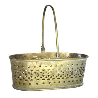 Vintage Filigree Metal Basket