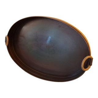 Oversized Bronze Colored Nautical Oval Tray