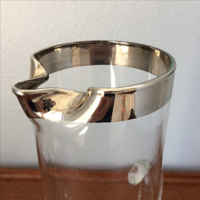 Mid-Century Silver Cocktail Pitcher & Five Glasses - Image 5 of 9