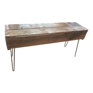 California Fruit Crates Console Table