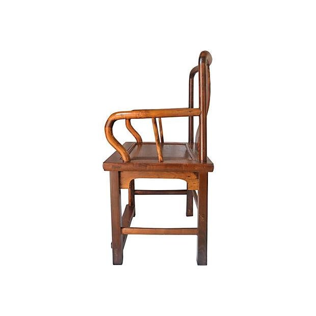 Vintage Ming Style Rosewood Armchair - Image 3 of 6