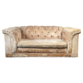Velvet Chesterfield Loveseat