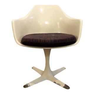 Burke Mid-Century Modern Saarinen Style White Tulip Dining Chair