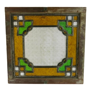 Antique Chinese Stained Glass Window