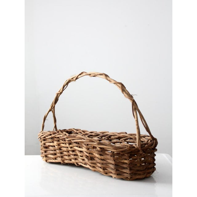 Primitive Wicker Twig Basket - Image 3 of 6