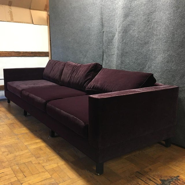 Dialogica Purple Velvet 10 Foot Custom Made Sofa Chairish