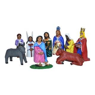 Jesus Aguilar Ceramic Nativity