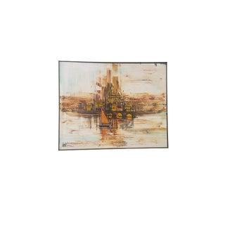 Lee Reynolds Mid-Century Harbor Painting