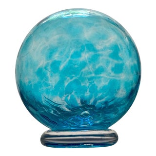 Aqua Blown Glass Globe