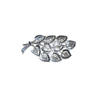Shimmery Silver Leaves Pin