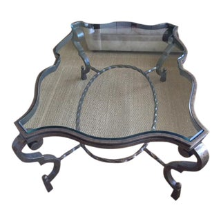 Transitional Glass Coffee Table