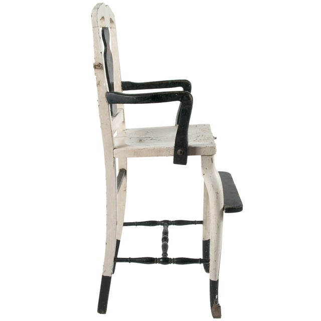 Vintage Painted Wood High Chair - Image 3 of 4