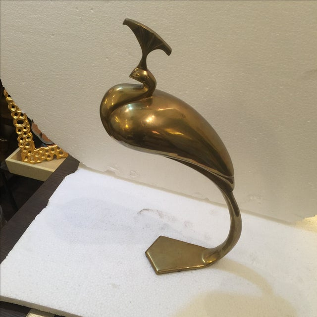Vintage Brass Peacock - Image 6 of 6