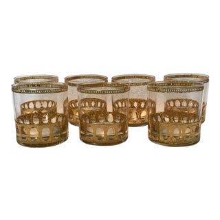 Culver Antigua Low Ball Glasses - Set of 7