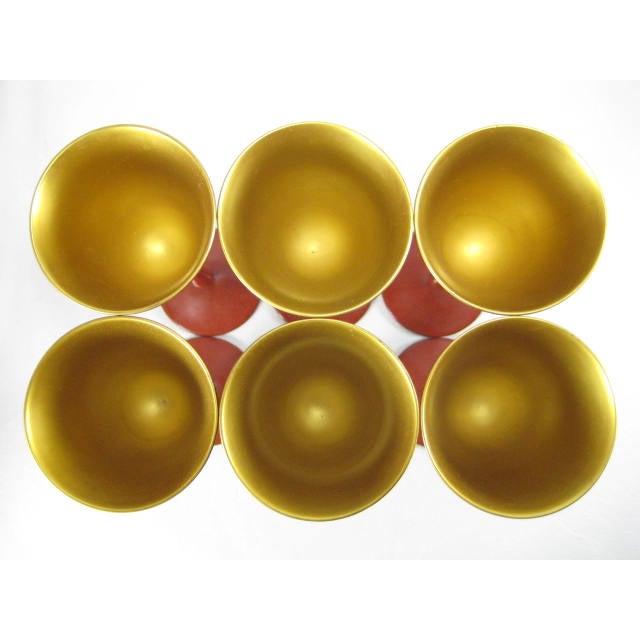 Image of Red Lacquerware Martini Glasses - Set of 6