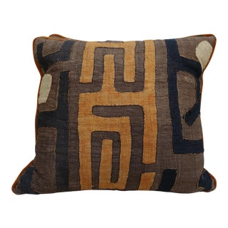 African Cloth Kuba Pillows - a Pair